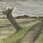 Una acuarela de Van Gogh se exhibe en su museo
