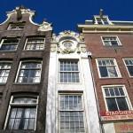 Casas estrechas de Ámsterdam