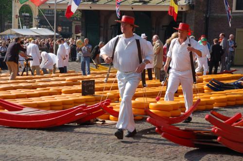 El delicioso Mercado de Quesos de Alkmaar