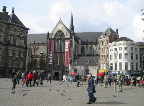 Plaza Dam, donde se creó Amsterdam